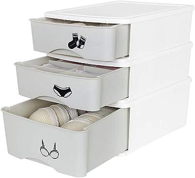 Amazon.com: Caja de almacenamiento de 3 cajones grandes de ...