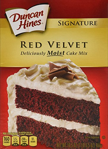 Duncan Hines Moist Deluxe Cake Mix, Red Velvet 16.5 Oz (Pack of 2)