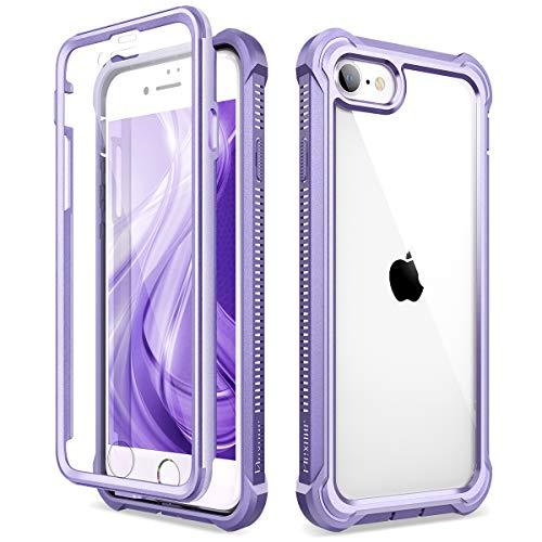 Dexnor Cover Compatibile con iPhone SE 2020/8/7 (4.7'') Cassa, TPU Custodia di Protezione a 360 Gradi, [Antiurto] [Leggero] PC Pannello Posteriore Trasparente, con Protezione per Lo Schermo - Viola