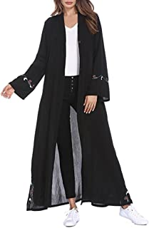 Women's Coat Muslim Islamic Embroidered Cardigan Long Coat Middle East Long Robe Casual