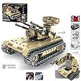 Teakpeak RC Tank Build Kits, 457Pcs 2.4G Remote Control Main Battle Tank DIY