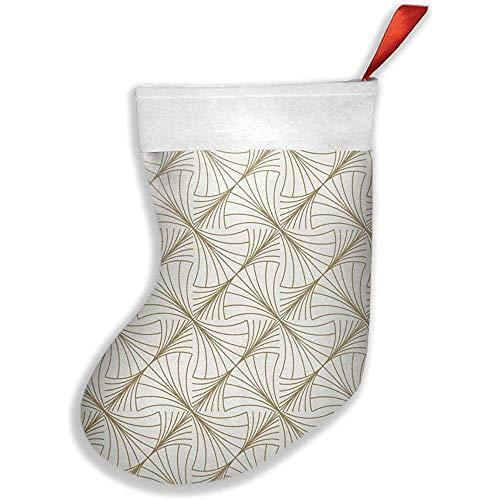 Wheatleya Rundes Wellen-Gold auf weißen Weihnachtsstrümpfen, Socken für Feiertags-Weihnachtsdekorationen