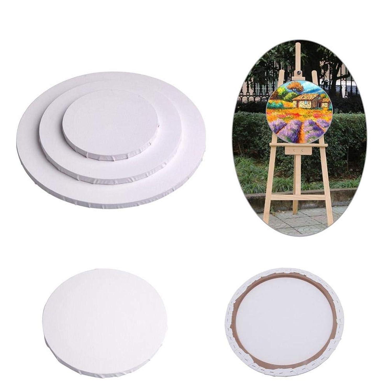 滑り台勘違いする傘多機能ラウンドキャンバスパネルの空白コットンクリエイティブアートアーティスト油彩パネル絵画ホームデコレーション、20センチメートル CT55CT (Size : 20cm)