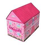 TE-Trend Stoff Spielhaus Spielbox Motiv Funny Farm Aufbewahrungsbox mit Deckel aufklappbar