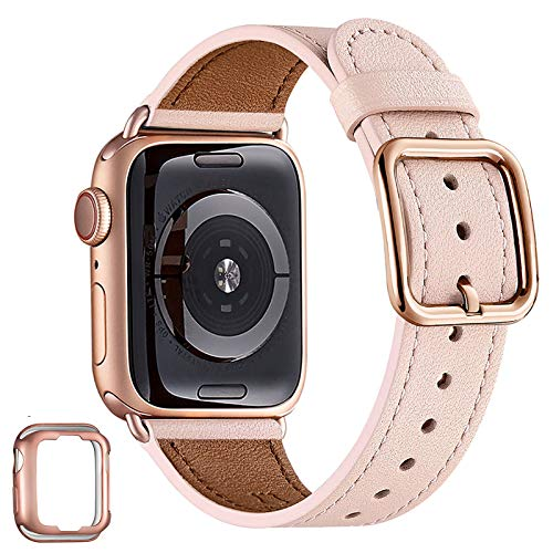 MNBVCXZ - Correa de repuesto para Apple Watch de 38 mm, 40 mm, 42 mm, 44 mm, para mujer y niña, de piel auténtica, para iWatch Series 5, 4, 3, 2, 1 Sport y Edition