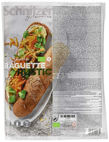 Schnitzer glutenfree Bio Baguette rustic glutenfrei, 6er Pack (6 x 320 g)