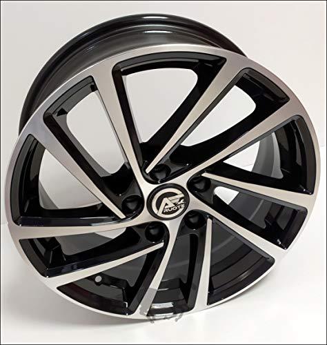 1 Wonder Llantas de Aleación NAD 6,5 16 5X100 42 57,1 Compatible Con Audi A1 Seat Ibiza VW Polo Golf 4 el Cruce en T Negro Brillante Diamante