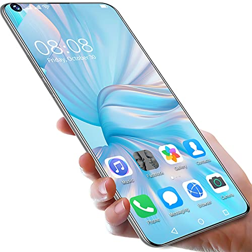 YouthRM Smartphone Sbloccato Android 11 5G P50Pro+, 7,3 Pollici 5-Fotocamera 6800mAh 8GRAM + 256GROM Dual SIM Call Water Drop Touch Screen Telefono Cellulare,Blue