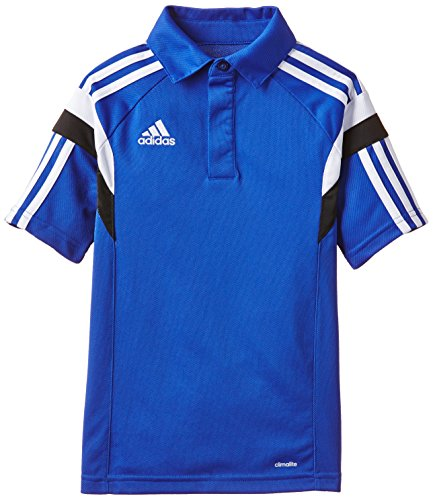 adidas CON14 CL Polo Y - Chándal para niño, color azul / blanco / negro, talla 152