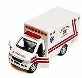 Rescue Team Ambulance, White - Kinsmart 5259D - 5' Diecast Model Toy Car