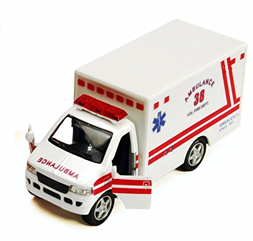Rescue Team Ambulance, White - Kinsmart 5259D - 5' Diecast Model Toy Car