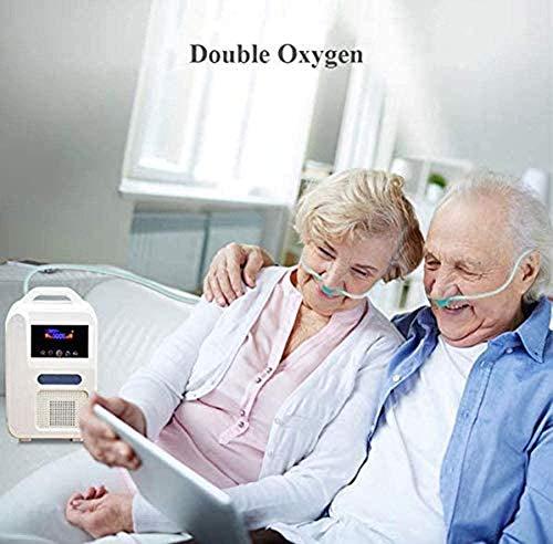 LALEO Concentrador de oxígeno, 1-1L / min 55% ± 3 (1L) Flujo de oxígeno Puro con Máquina de oxígeno portátil Ajustable para Uso doméstico y de Viaje