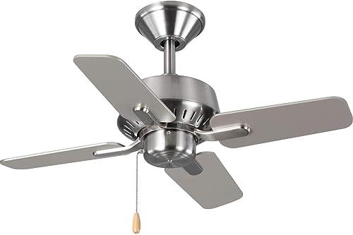 popular Progress outlet online sale Lighting popular P250008-009 Drift Ceiling Fans, 5 Blade, Nickel online sale