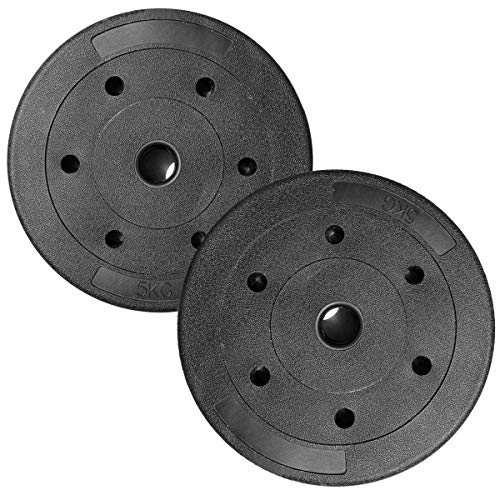 mymixtrendz Weight Plates Sports Vinyl 5Kg,10Kg Home Gym Fitness Training Barbell Disc(Plates Only) (5 Kg Pair)