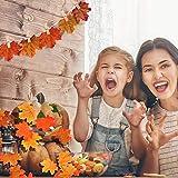 ASANMU Ahornblätter, 600 Stück Künstliche Herbst Ahornblätter Herbstlaub Kunstblätter Farbige Herbstlaub Blätter Tischdeko für Wandbild Halloween, Thanksgiving, Hochzeiten und Weihnachten Deko - 3
