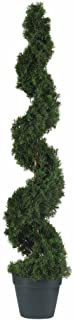 Nearly Natural 5076 Cedar Spiral Silk Tree, Green
