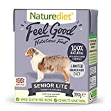 Naturediet - Feel Good Wet Dog Food, Natural and Nutritionally Balanced, Senior-Lite, 390g (Pack of 18)