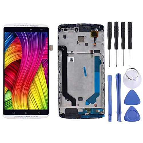 ASAMOAH Cell Phone Replacement Part LCD Screen and Digitizer Full Assembly with Frame for Lenovo K4 Note / A7010 Phone Accessories (Color : White)