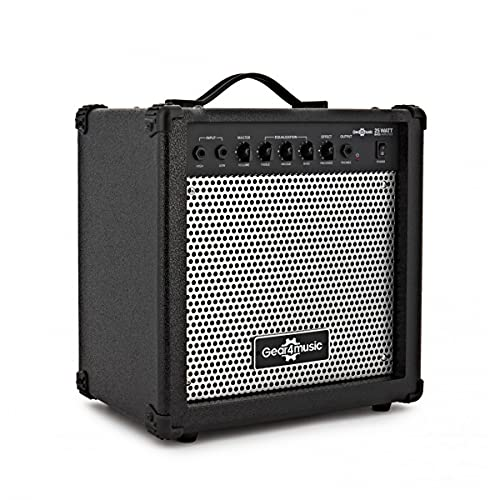Bass Guitar Amplifier 25W with 4 Band EQ by Gear4music
