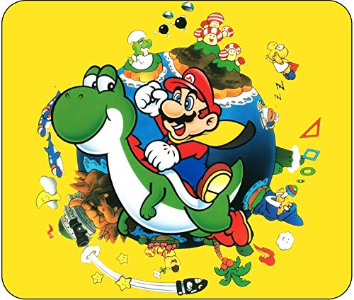 Super Mario World Yoshi Vintage Themed Mouse Pad - Standard Size (10' x 8.5') - Non Slip