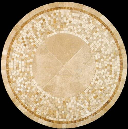 Mosaica Seattle Mall Natural Stone Coffee Tables Japan Maker New 30 Round - Inches