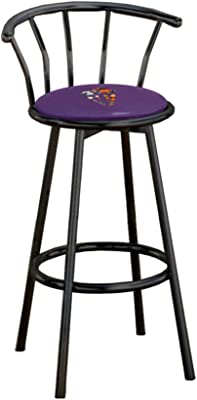 Amazon Com Superman Themed Fabric Swivel Seat Bar Stool 29 Quot Seat Height With A Black Finish Kitchen Amp Dining
