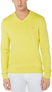 Men's Ribbed Trim V-Neck Pullover Sweater