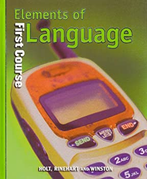 Elements of Language: First Course 0030526639 Book Cover