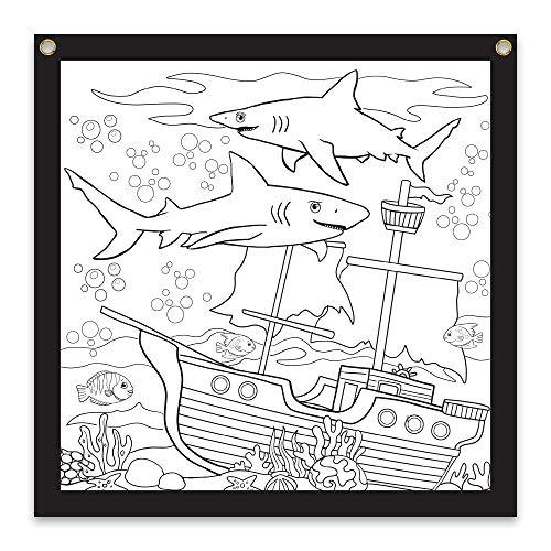 Rico Industries Shark Design Color-Me Felt, 24 x 24-inches, White (CMF122480CM)