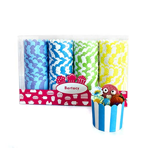 Bertacy Quality Cupcake Baking Cups Disposable Cake Baking Cup Cupcake Muffin Fit Home Party(100pcs)
