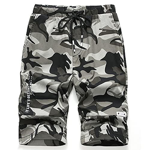 Idgreatim Jungen Shorts Kinder Camouflage Multi Combat Cargo Holiday Sommer Lässige knielange Sportshorts mit Taschen