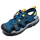 RAX - Sandali da trekking da uomo, chiusi, per sport all'aria aperta, Blu (Blu), 40 EU