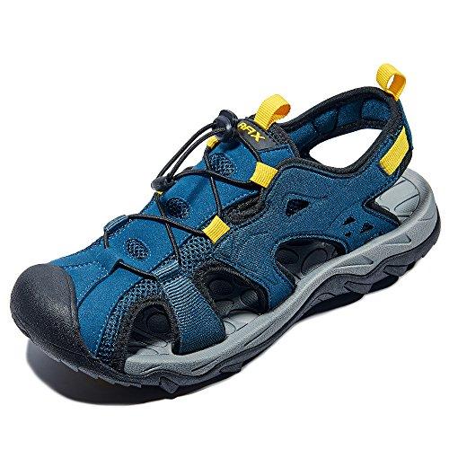 Rax Herren Outdoor Sport Sandalen Trekking Wanderschuhe, Blau, 43 EU