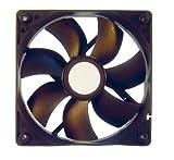 L-Link LL-VENTILADOR-12X12 - Ventilador de PC, Negro