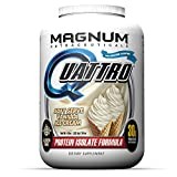 Magnum Nutraceuticals Quattro Soft Serve Vanilla Ice Cream Lactose-Free Protein Powder for Men &...
