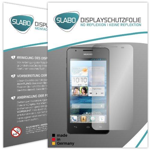 Slabo 2 x Bildschirmschutzfolie Huawei Ascend G525 Bildschirmschutz Schutzfolie Folie No Reflexion|Keine Reflektion MATT - Entspiegelnd Made IN Germany