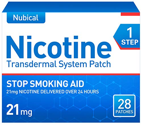 Nubical Nicotine Patches Step 1 to Quit Smoking,Stop Smoking Aid That Work,21mg Nicotine,Quit Smoking Aid,Anti-Smoking Patch,28 Patches, 4-Week Kit