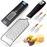 Zulay Kitchen Professional Cheese Grater Stainless Steel - Durable...