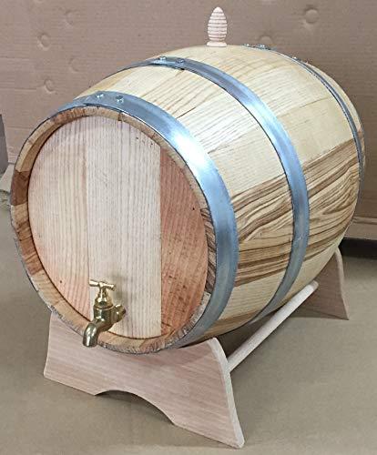 Barril de castaño de 20 litros con grifo de latón