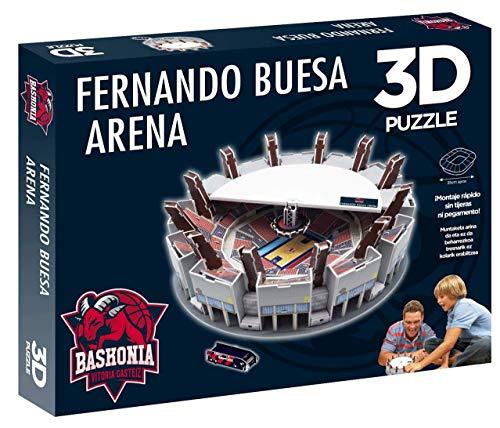 Eleven Force Puzzle 3D Fernando Buesa Arena (Producto Oficial Saski Baskonia S.A.D Color (98 Piezas Aprox.)