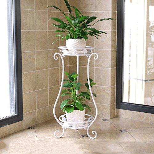 MLHJ Stand de Fleurs- Cadre de Fleur de Fer Multicouche Balcon créatif Fleur de Vigne Salon sur Pied Multifonctionnel Stand de Fleurs (Couleur : Blanc)
