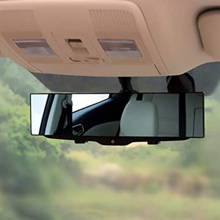 Auto Rückspiegel Weitwinkel Morechioce Universal Panorama Rückspiegel Toter Winkel Spiegel Anti Blendung Innenspiegel Large Vision 300mm Winkeleinstellung Rückspiegel Auto