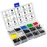 HSEAMALL Interruptor pulsador táctico Colorido 420PCS Micro Momentáneo Tact Assortment K...