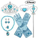 ❤Package Included: 1x Bracelet,1 x Princess Crown, 1 x Wand, 1 x Ring, 1 x Necklace, 1 x pair of Gloves, 1 x pair of Earrings. ❤Every little girl has one princess dream, you will make the dream come true soon, just do not hesitate to bring this princ...