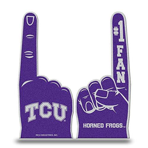 Rico Industries NCAA TCU Horned Frogs #1 Flache Schaumstoff-Finger