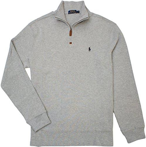 Polo Ralph Lauren - Jersey con media cremallera para hombre, de algodón French, acanalado, talla XL