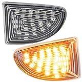 phil trade Intermitente Lateral LED Compatible con Smart Fortwo A451, C451, Cabrio y Coupé, Cristal Transparente 7232