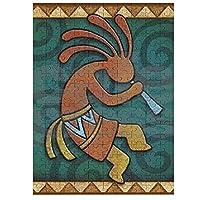 Native American Art Southwest Kokopelli 木製ジグソーパズル、大人のためのパズルティーンエイジャー子供ジグソーパズルゲームおもちゃ誕生日プレゼント200/75/120ピース