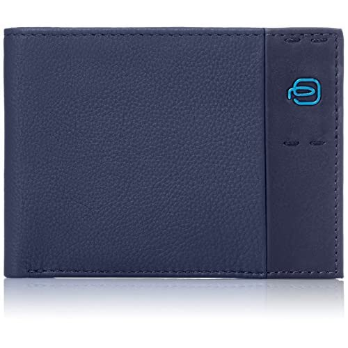 Piquadro Pulse Portafoglio, Pelle, Blu, 13 cm
