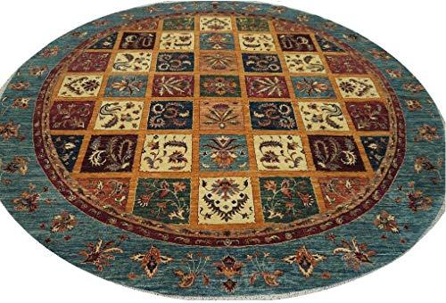 "Babak's Oriental Carpets Chobi Ziegler Handmade Afghan Circular Circle Round Area Rug 9'1"" x 9'2"""